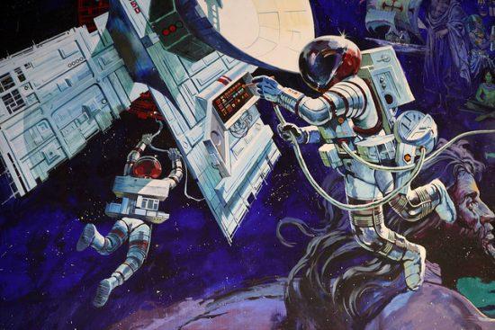 Spaceship Earth mural - copyright Sam Howzit, Flickr Creative Commons