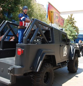 Captain America in Disney California Adventure