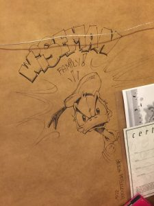 Greg McCullough sketch of Donald
