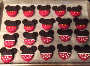 Mickey and Minnie Disney-themed treats