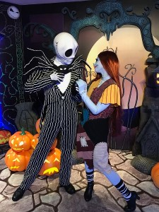 Jack and Sally in Hong Kong Disneyland