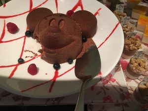 "alt""=""A Mickey shaped dessert on the Enchanted Garden menu at the Hong Kong Disneyland Resort."""