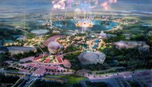 "alt=""Artist rendition of the future EPCOT."""