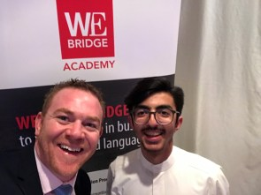 Dave met one of our former student, Mohammed whilst travelling in Oman