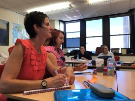 Trinity CertTESOL 2017 Teacher Training - you can see the concentration on their faces