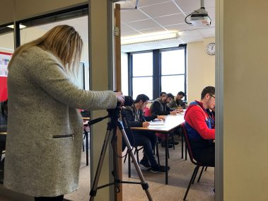 NCC Education filming our IFP students in 2017