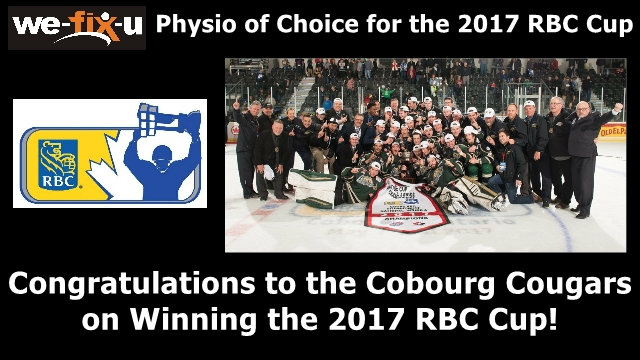 Congratulations to the Cobourg Cougars for Winning the 2017 RBC Cup!