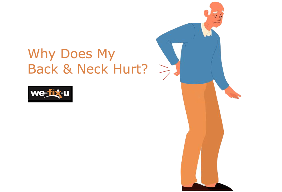 old man holding his back in pain