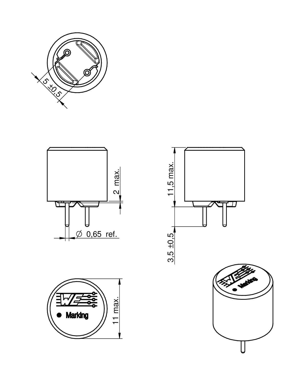 We Tis Radial Leaded Wire Wound Inductor