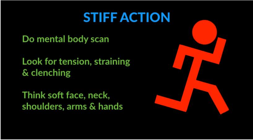 running technique mistakes - stiff action