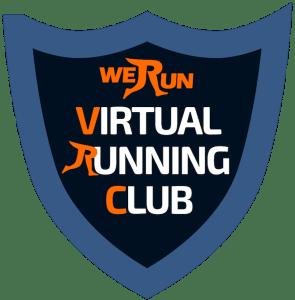 virtual running club logo transparent