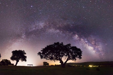 Photo of the Santa Ynez Valley at Night