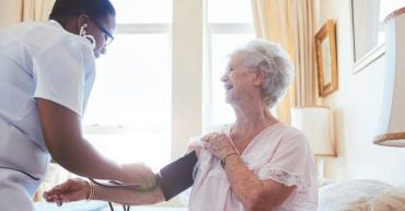 Care home resident and employee