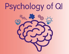 "Illustration of brain with a title that reads ""Psychology of QI"""