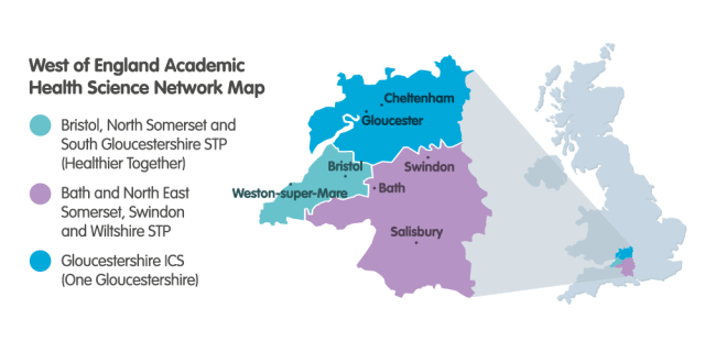 Map Of England Gloucestershire.Our Region West Of England Academic Health Science Network