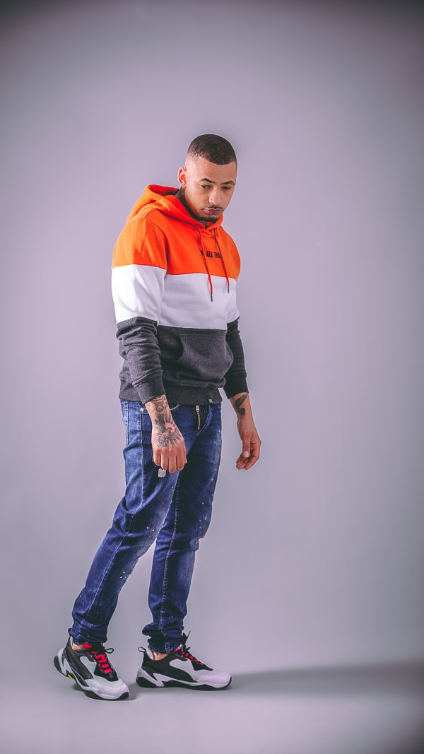 we all that orange 3 tone hoodie