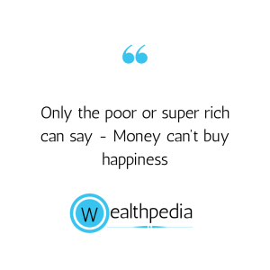 Why middle class person always thinks of money?
