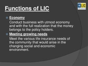 What are the Functions of LIC?