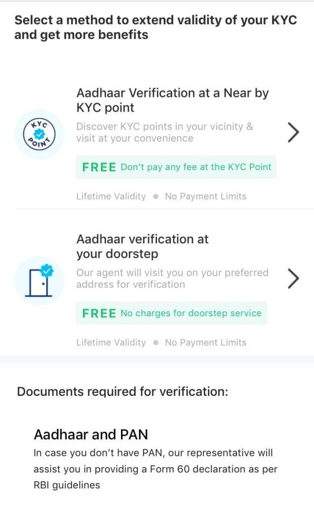 paytm full kyc option