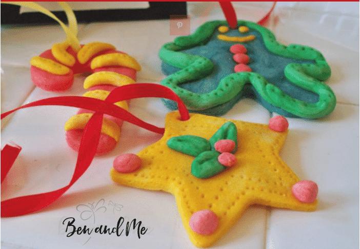 Christmas Crafts for Kids: DIY sented Salt Dough ornament from Ben & Me