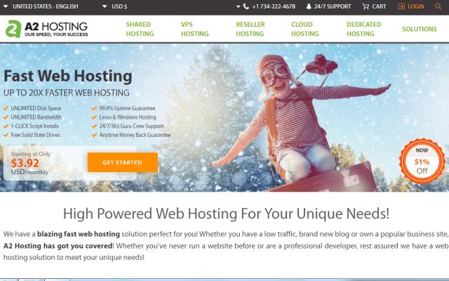 a2 hosting - wordpress hosting - free bog platform