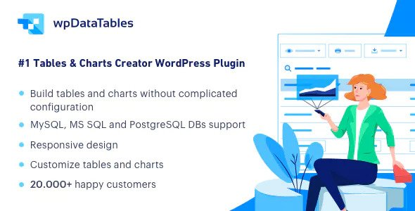 wpDataTables 3.4.3 - Tables and Charts Manager for WordPress