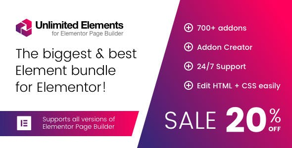 Unlimited Elements for Elementor Premium 1.4.73 Nulled