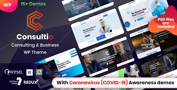 Consultio 2.5.0 Nulled – Corporate Consulting WordPress Theme