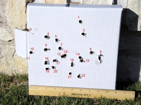 """10"""" Target at 26 feet"""