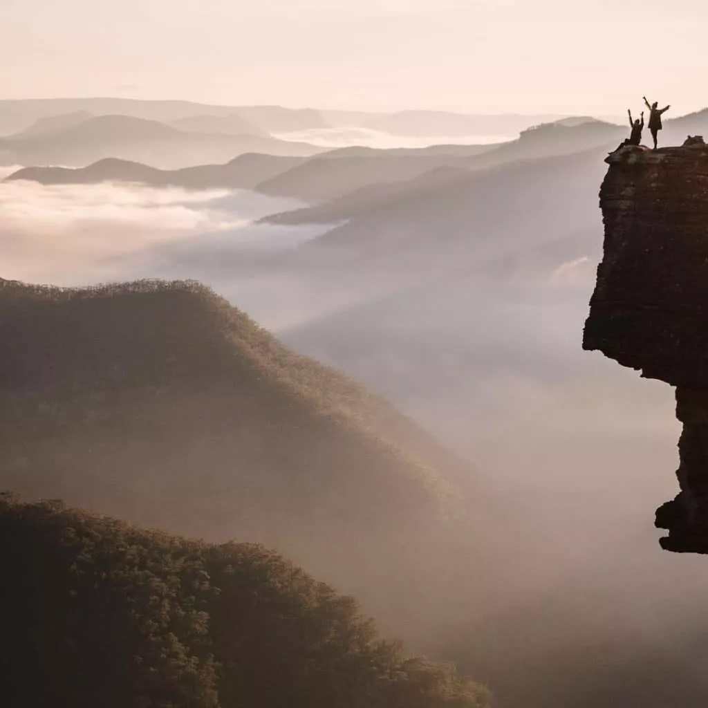 "Microadventures with @twistdee 3/5 Kanangra Walls in the Blue Mountains, NSW. ""Sunrise doesn't get much better than this."" #weareexplorers"