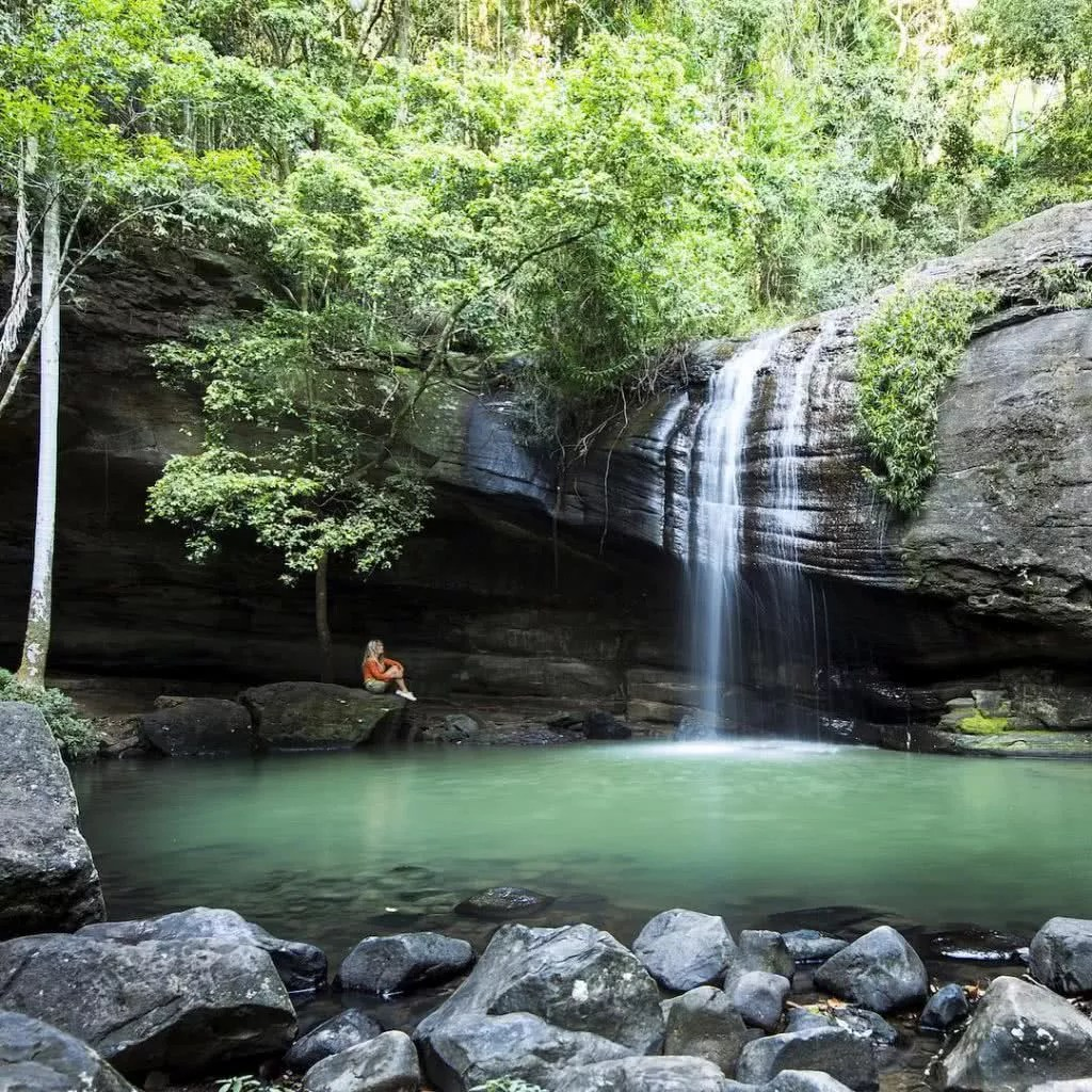 "Microadventures with @j_bonde 3/5 Buderim Falls, SE QLD ""Buderim Falls is only a 15 minute drive from where we now live. I've travelled all over the world to see amazing waterfalls and it is finally nice to have a pretty good one not too far from the back door! We waited for the crowds to leave so we could enjoy it in its peaceful best."" #weareexplorers"