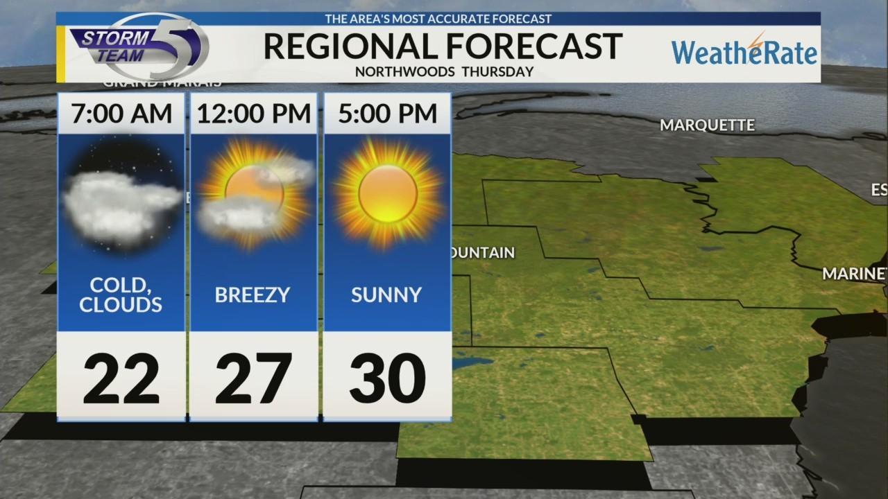 Regional Forecast Northwoods 3-15