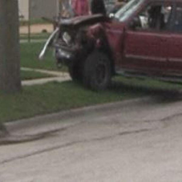 car vs tree accident