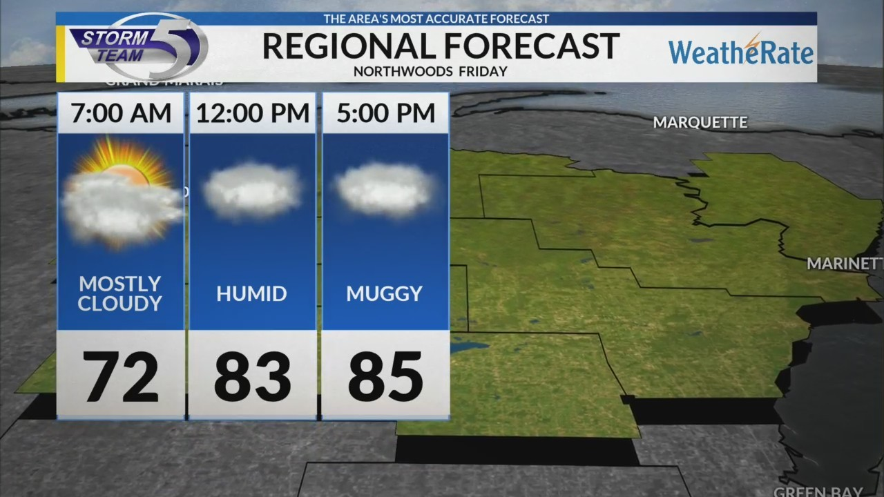 Regional Forecast: Northwoods 7/13/2018