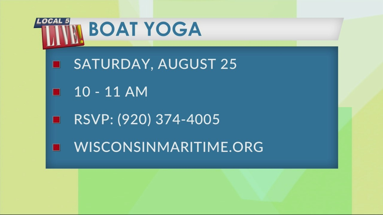Boat Yoga at the Wisconsin Maritime Museum