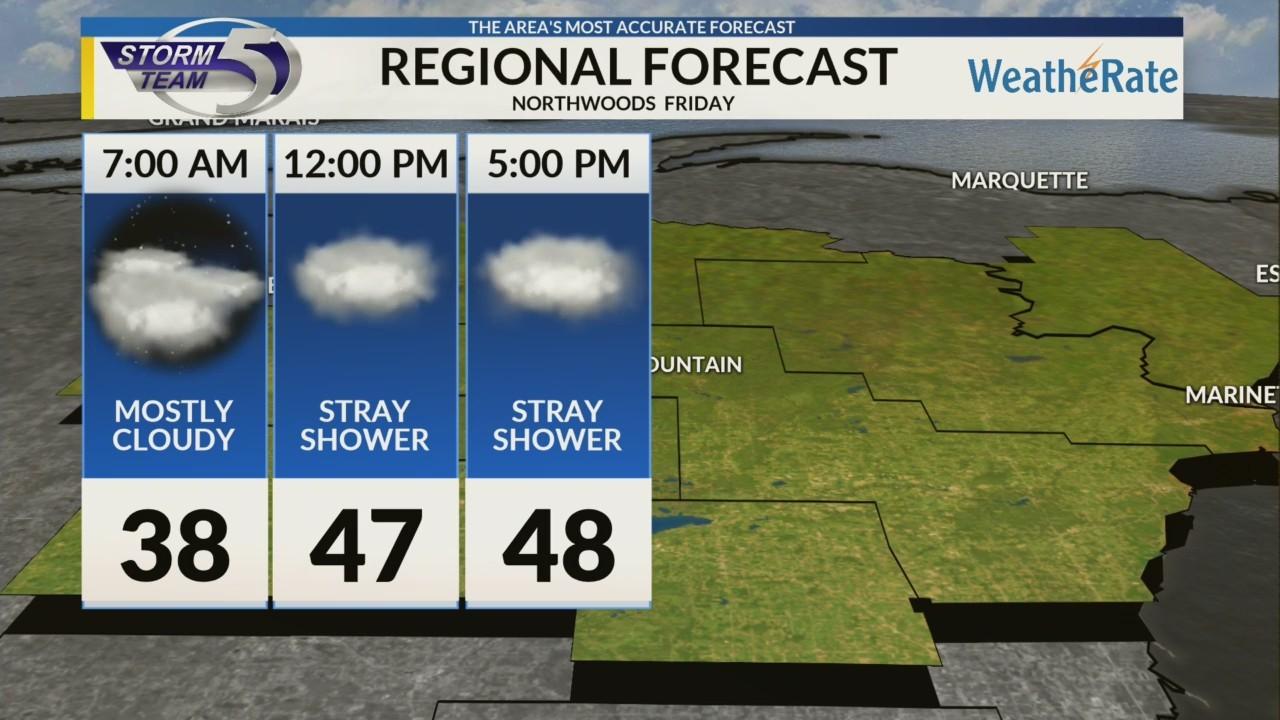 Regional Forecast: Northwoods 10/26