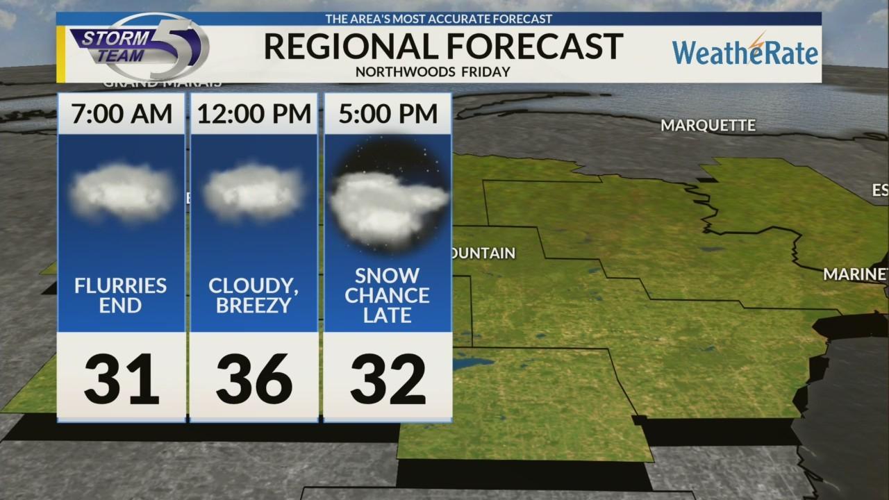 Regional Forecast: Northwoods 11/16
