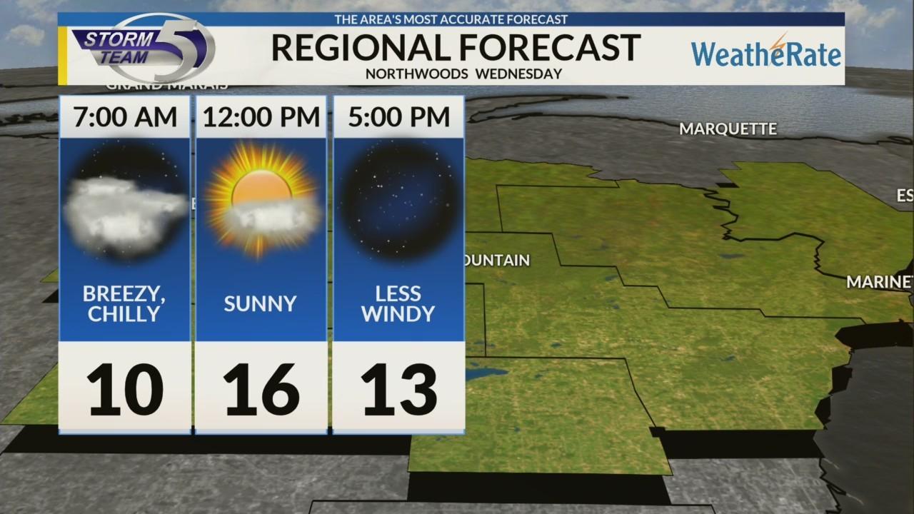 Regional Forecast: Northwoods 1/16