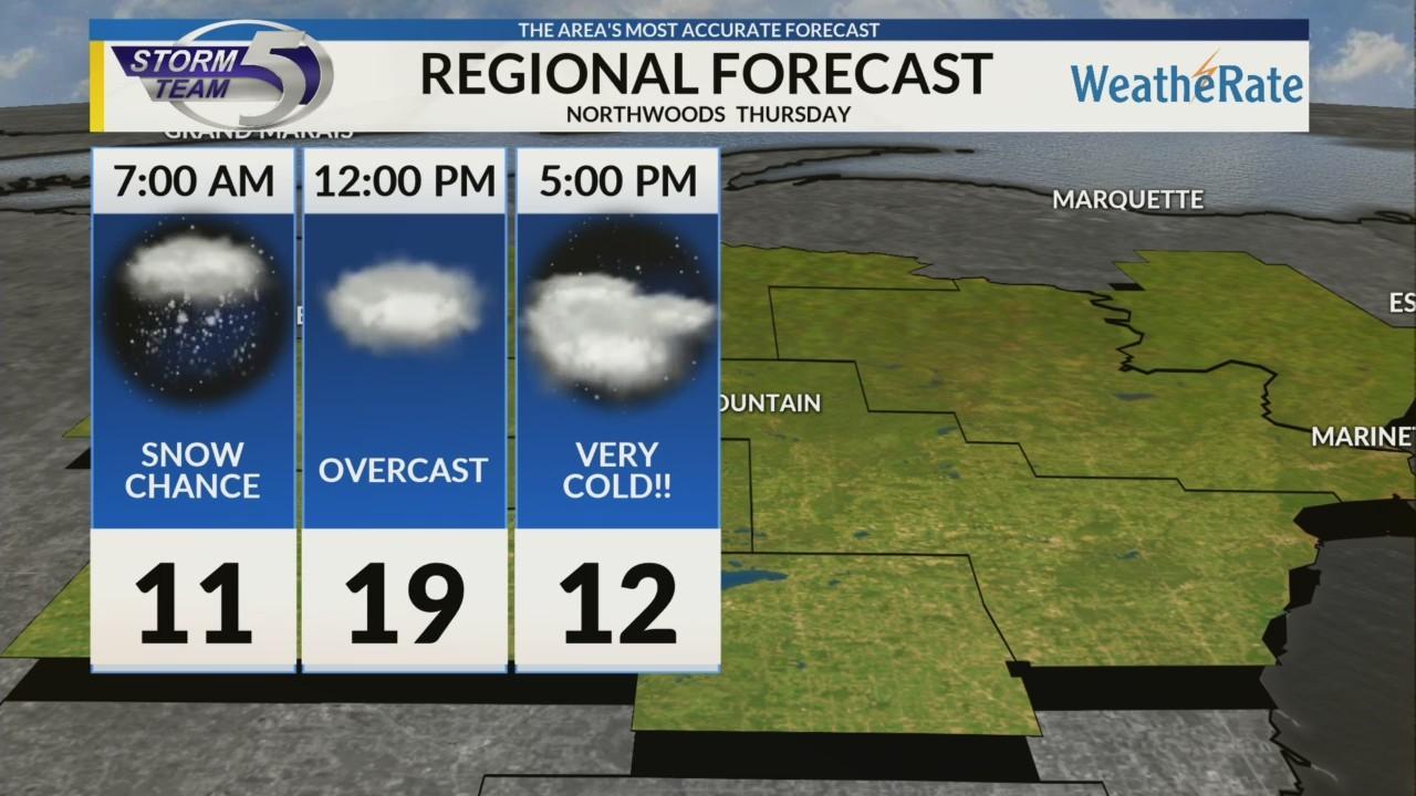 Regional Forecast: Northwoods 1/24/2019