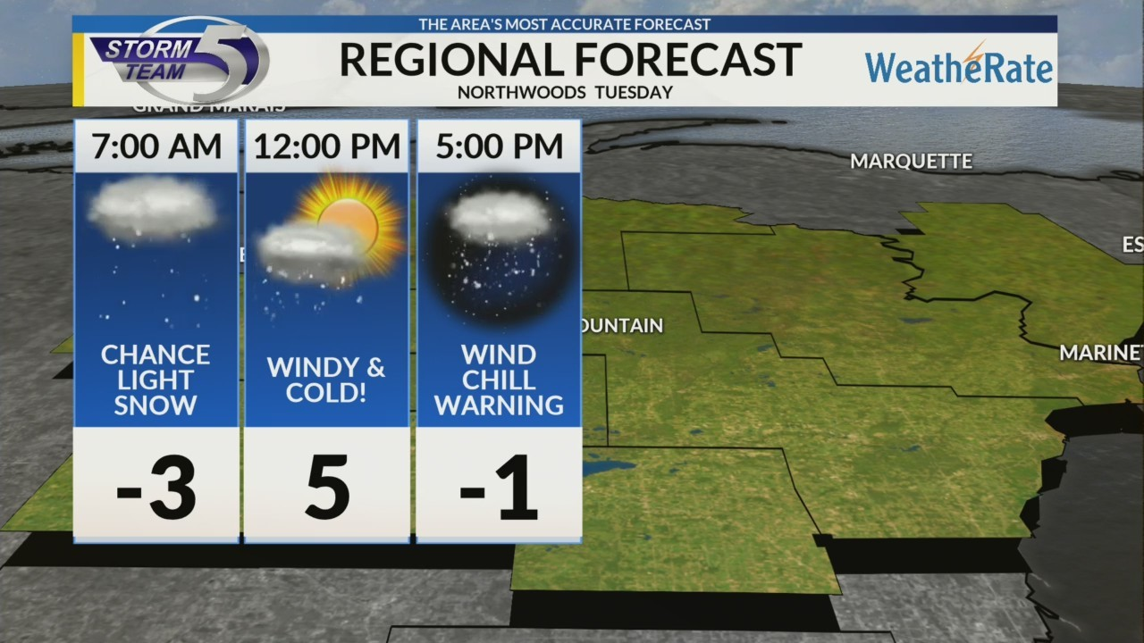 Regional Forecast: Northwoods 1/29