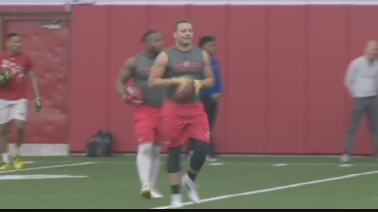 Badgers Fullback Alec Ingold Participates in UW's Pro Day