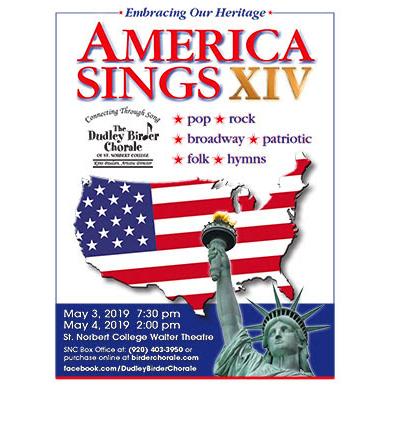 Dudley Birder Chorale of St. Norbert College America Sings cover_1556978117446.jpg.jpg