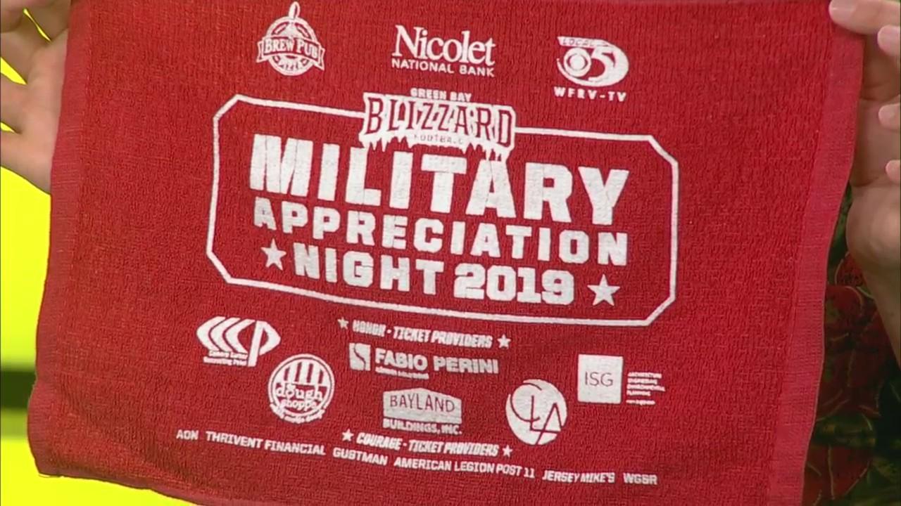 Green Bay Blizzard Military Appreciation Night