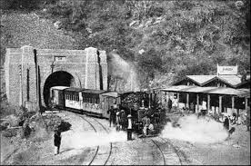 Kalka Shimla train at Barog Old Picture
