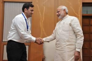Chetan Singh Bragta WIth Prime Minister of India Narendra Modi
