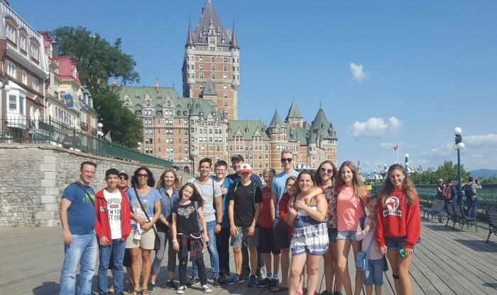 A group portrait in Quebec.