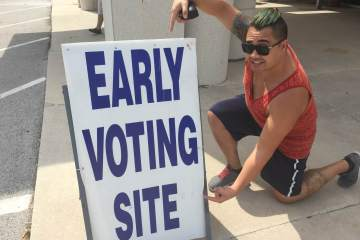 The author doing that voting thing