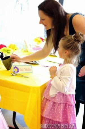 Host a kindergarten tea party