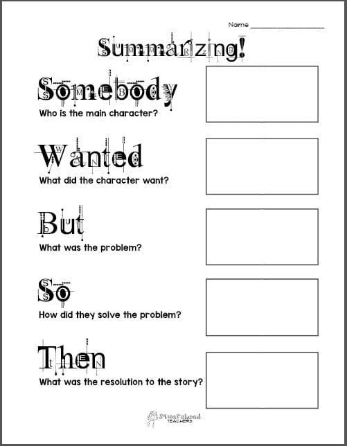 Summarizing Worksheets 2Nd Grade – Summarizing Worksheets