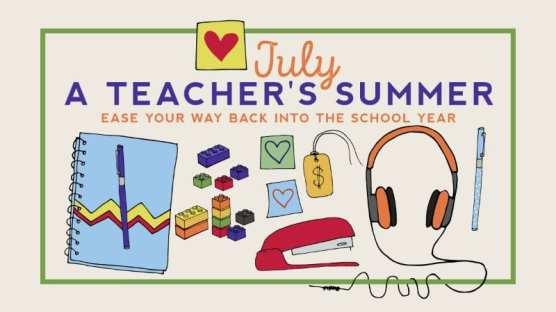 July teachers' calendar